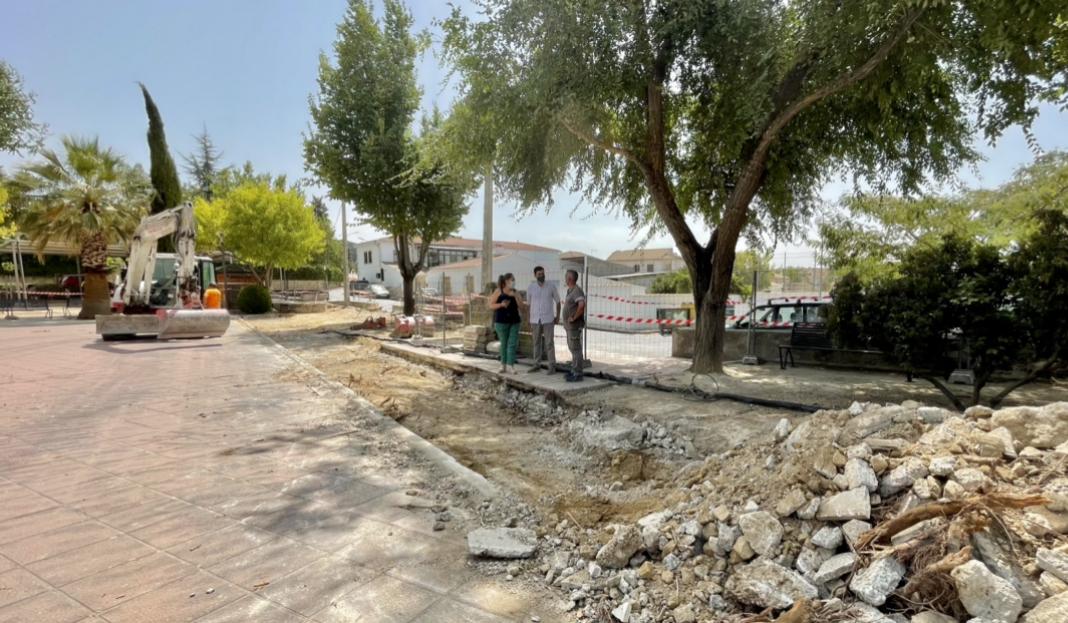 Inicio obras parque Comendador PFEA Santa Ana (1)